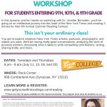 New York Times Summer Reading Contest Workshop